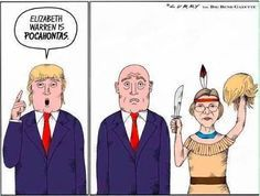 In a brilliant move, Elizabeth buys Pocahontas.com and continues to skewer Donald.