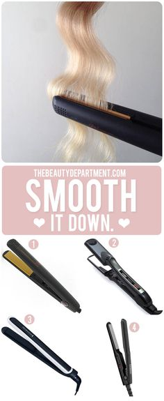 types of flat irons the beauty department