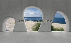 View on the beach from cave fotobehang uit de collectie Bijzonder fotobehang van Kleurmijninterieur koop je bij kleurmijninterieur