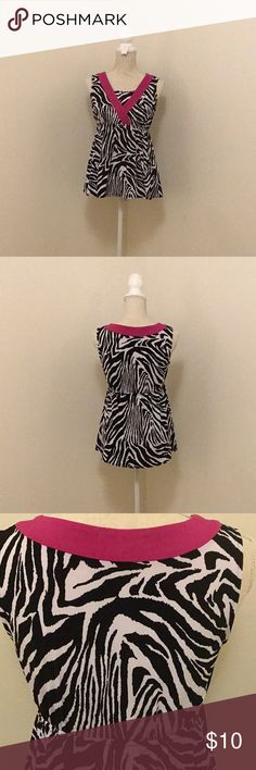 """Style & Co Zebra tank Style & Co Zebra patterned sleeveless top. Got many compliments. Bust is 17""""-18"""" across unstretched. This has stretch/give to it. Gorgeous. Macy's. Excellent condition. Style & Co Tops"""