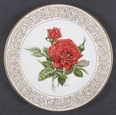 The Mister Lincoln Rose Mr Lincoln Rose, Dinnerware, Pattern Design, Decorative Plates, Tableware, Home Decor, Objects, Dinner Ware, Decoration Home