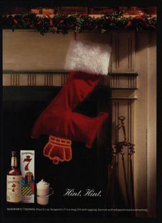 1991 Seagram's Whisky Seagram's Stocking Christmas Holidays Vintage Ad | eBay
