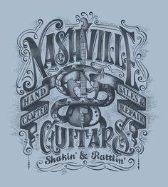 """Nashville Guitars"" for Lucky Brand by Ben Kwok at Coroflot.com"