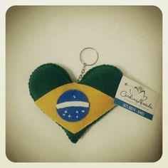Coração chaveiro- Carolina Almeida Designer.