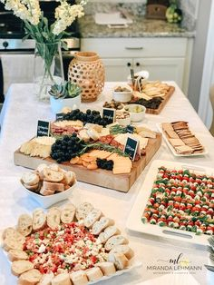 Wine and cheese party - 2020 Wedding Trends 20 Charcuterie Board or Table Ideas – Wine and cheese party Meat And Cheese Tray, Charcuterie And Cheese Board, Charcuterie Platter, Wine And Cheese Party, Wine Tasting Party, Cheese Boards, Charcuterie Wedding, Cheese Board Display, Cheese And Cracker Tray
