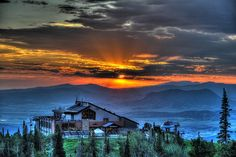 Sunset Happy Hour? Yes, please!   Steamboat Resort in Steamboat Springs, Colorado