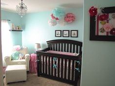 The Modest Homestead: Ava's pretty pink and aqua nursery