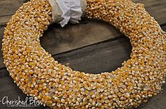 Popcorn Kernel Wreath