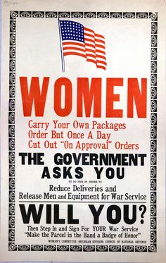 Will You?  Woman's Committee  Michigan Division  Council of National Defense  c. 1942-1945