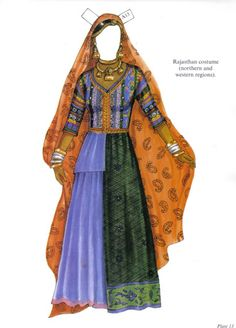 """Traditional Fashions from India Paper Dolls"" by Ming-Ju Sun"