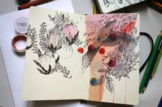 Anna Aniskina: Sketchbook pages on Behance