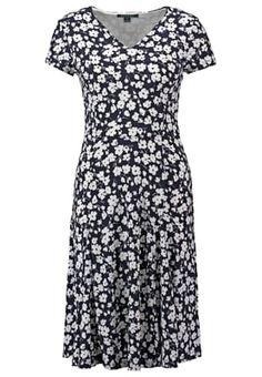 Lauren Ralph Lauren EDNES - Sukienka z dżerseju - navy/white za 839 zł (03.06.16) zamów bezpłatnie na Zalando.pl.
