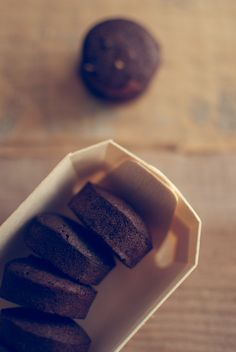chocolate and orange financiers