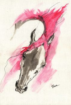 Rose Wild Horse Acrylic Painting 16 07 2013 Painting