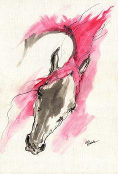 Rose Wild Horse Acrylic Painting 16 07 2013 Painting