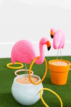 Flamingo Ring Toss  - CountryLiving.com