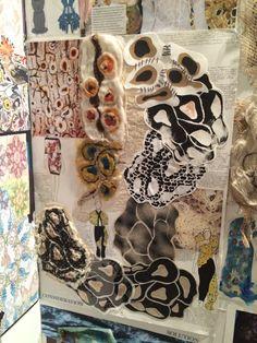 A Level Art Sketchbook, Sketchbook Layout, Textiles Sketchbook, Fashion Design Sketchbook, Fashion Design Portfolio, Sketchbook Inspiration, Art Portfolio, A Level Textiles, Textile Texture