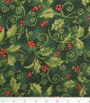 Holiday Inspirations Fabric Red Allover Poinsettia at Joann.com
