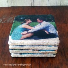 DIY Photo Coasters using tissue paper Do It Yourself Crafts, Crafts To Make, Photo Projects, Fun Projects, Craft Gifts, Diy Gifts, Diy Foto, Photo Coasters, Creative Arts And Crafts