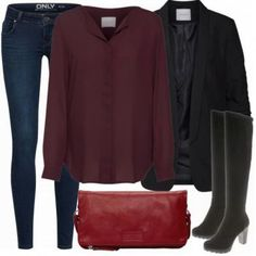 BusinessOverkneeStyle Damen Outfit - Komplettes Business Outfit günstig kaufen | FrauenOutfits.de Komplette Outfits, Work Outfits, Simply Fashion, Business Outfits, My Outfit, Polyvore, Style, Women's, Swag