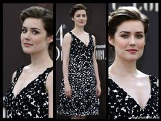 Megan Boone attends the red carpet of the Monte Carlo Television Festival Closing Ceremony in Monaco where she looks fantastic wearing this chain mail Elizabeth Keen, Megan Boone, Outfits Fiesta, James Spader, Carmen Marc Valvo, Gillian Anderson, Social Club, Natural Beauty, Tv Series