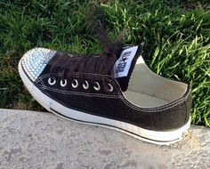 Women's Bedazzled Converse by blingbymandie on Etsy