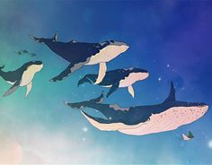 """Check out new work on my @Behance portfolio: """"Flying whales"""" http://on.be.net/1Ovagb2"""