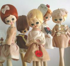 sorry no info// Herman Pecker dolls, 1960's