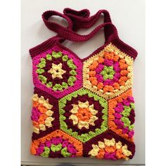Crochet tote bag, hexagon crochet bag, shopping bag, market bag,... ($30) ❤ liked on Polyvore featuring bags, handbags, tote bags, handbags totes, hand bags, shopper tote, cotton shopping bags and purse tote bag