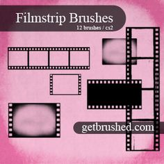 cute filmstrip brushes, layer as you like. The grunge might need to be erased back some, depending on your tastes.