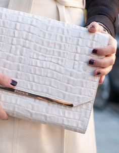 White for fall- Brahmin clutch