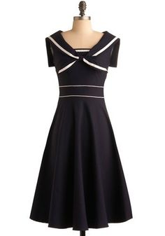 navy nautical inspired dress