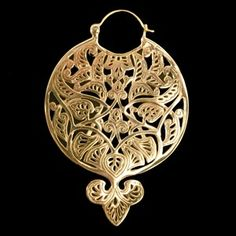 Gold Plated Basque Earring by Tawapa