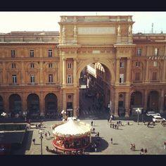 Piazza della Repubblica - Firenze From La Rinascente  #shopping #Florence