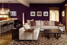Cozy Livingroom - eclectic - living room - los angeles - Erica Islas / EMI Interior Design, Inc. rug, table behind couch, side table