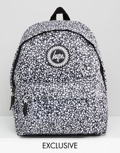 28c8782790d9 Hype Exclusive Monotone Mosaic Backpack at asos.com