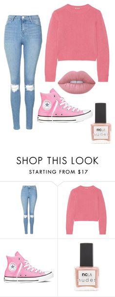 """""""Untitled #133"""" by vaniadenisse16 ❤ liked on Polyvore featuring Topshop, Miu Miu, Converse, ncLA and Lime Crime"""