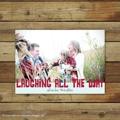 Christmas card, laughing all the way holiday card. $15.00, via Etsy.
