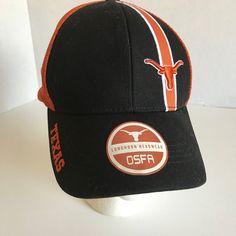 5768a6858e0 Longhorn Headwear Texas OSFA Black Orange Adjustable Snapback Baseball Cap