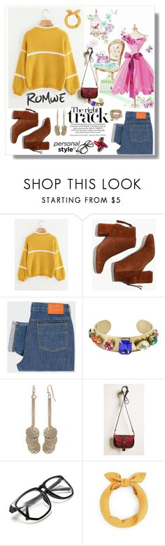 """Romwe"" by eldinreham ❤ liked on Polyvore featuring Madewell, PS Paul Smith and Anya Hindmarch"