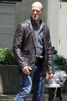 Fast and Furious 7 Jason Statham Jacket Coat in Pure Genuine Leather Black Leather Motorcycle Jacket, Men's Leather Jacket, Leather Jackets, Biker Style, Jacket Style, Jason Statham, Leather Fashion, Mens Fashion, Bomber Jacket
