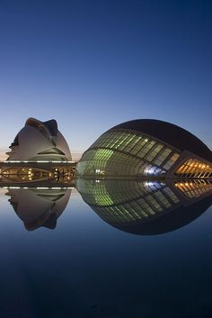 #calatrava #architecture City of Arts and Sciences - Ciudad de las Artes y las Ciencias, Valencia, Spain
