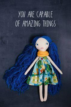 Sally handmade OOAK doll art doll cloth doll rag doll