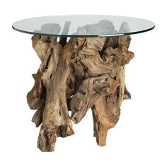 Crate & Barrel Driftwood end table- each are different one of a kind pieces. $399