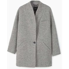 MANGO Cocoon Wool-Blend Coat (1.731.465 IDR) ❤ liked on Polyvore featuring outerwear, coats, jackets, coats & jackets, casaco, fur-lined coats, cocoon coats, wool blend coat, long sleeve coat and mango coats