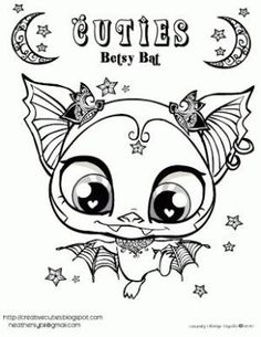 Creative Cuties: Betsy Bat, free printable coloring page by kristin.small