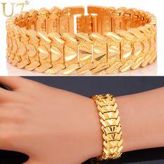 Heart Romantic Lovers' Platinum/18K Gold Plated Carving Wristband Bracelet