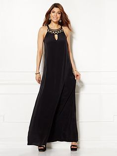 Shop Eva Mendes Collection - Naomi Embroidered Maxi Dress - Black . Find your perfect size online at the best price at New York & Company.