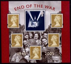 Stamp: End Of World War II (United Kingdom of Great Britain & Northern Ireland) (End of World War II) Mi:GB 2314KB,Sn:GB 2294,Yt:GB BF32,Sg:GB MS2547