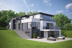 5 bedroom detached house for sale in Weston Road, Wilmslow, Cheshire, - Rightmove. Modern Architecture House, Architecture Design, Residential Architecture, House Built Into Hillside, Houses On Slopes, Bungalow Extensions, Minimal House Design, Design Your Dream House, Facade Design
